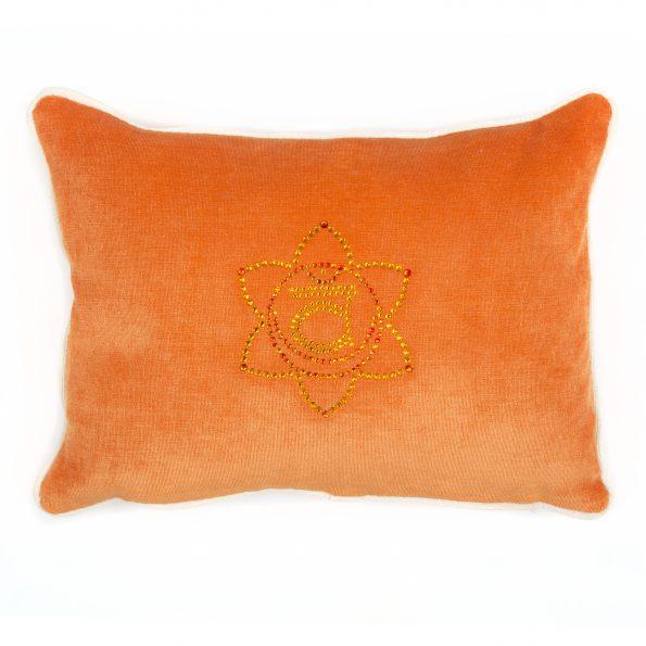 Chakra Kissen orange mit Chakra Symbol Svadhisthana