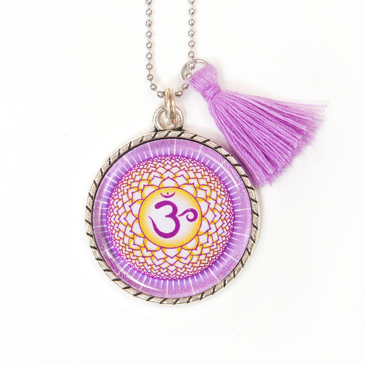 Chakra Halskette Kronenchakra Symbol