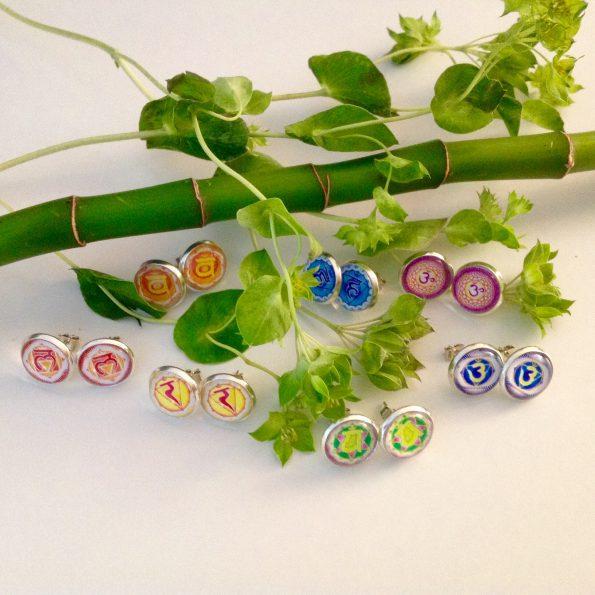 Chakra Ohrringe für jedes Chakra alle sieben Chakra Motive
