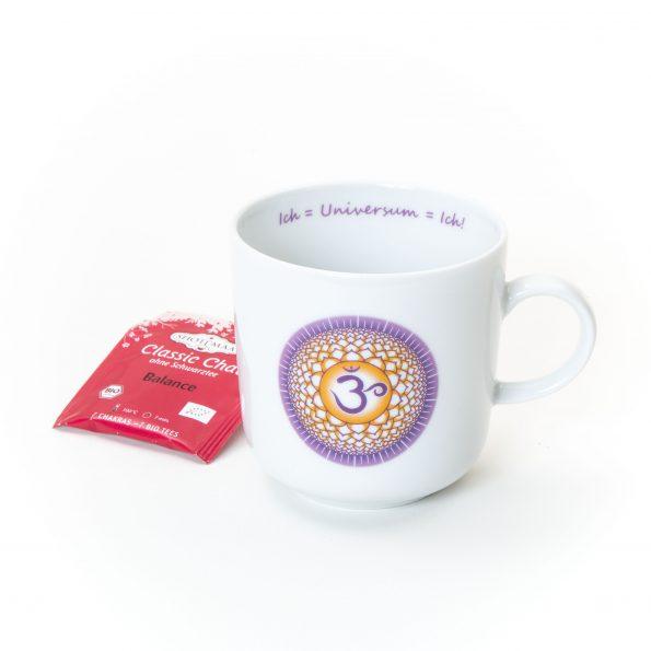 """Chakra Tasse Kronenchakra Affirmation """"Ich=Universum=Ich!"""""""