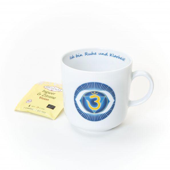 """Chakra Tasse Stirnchakra Affirmation """"Ich bin Ruhe und Klarheit!"""""""