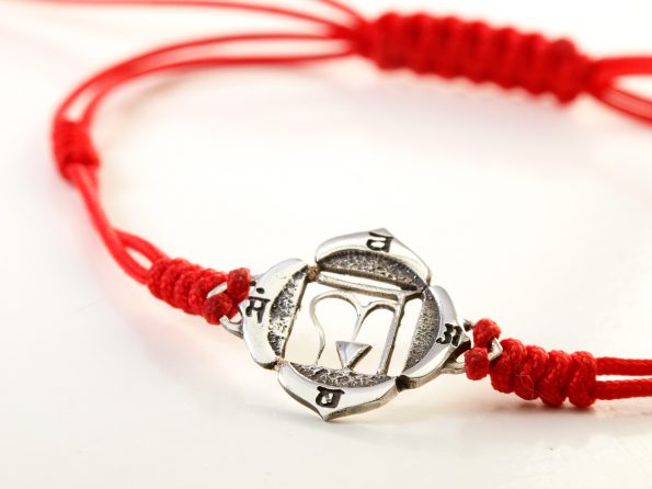 Chakra Armband 925er Silber Muladhara Symbol