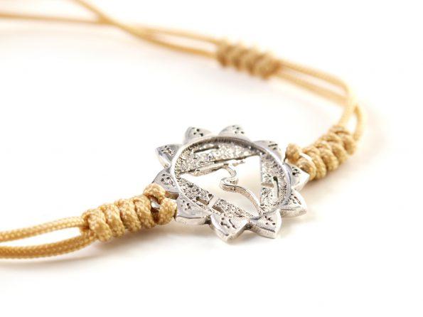 Chakra Armband Manipura Symbol 925er Silber