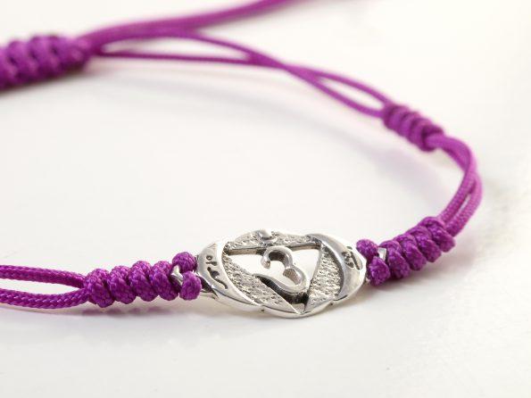 Chakra Armband StirnChakra Symbol 925er Silber