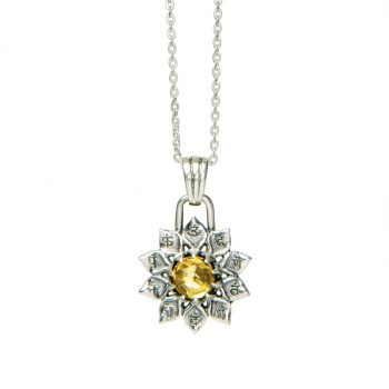 Chakra Kettenanhänger Solarplexuschakra Manipura 925er Silber
