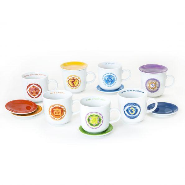 14-teiliges Chakra Tassen Set