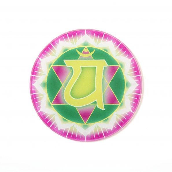 Chakra Untersetzer Herzchakra Symbol