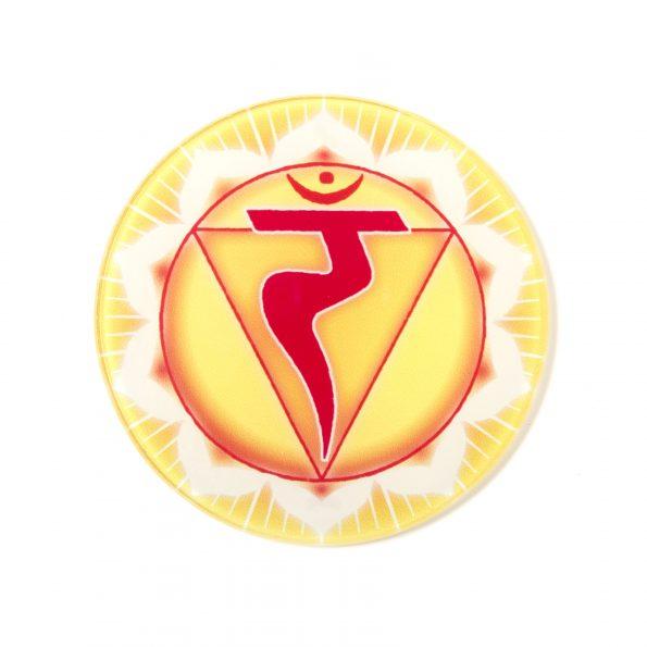Chakra Untersetzer Solarplexuschakra Symbol