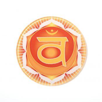 Chakra Untersetzer Sakralchakra Symbol